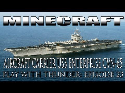 Minecraft Aircraft Carrier USS Enterprise Build Up (PWT EP23) with SCHEMATICS!!
