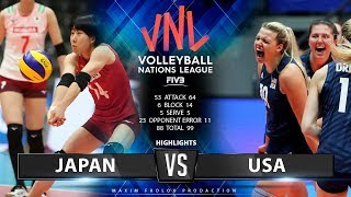 Japan vs. USA   Highlights   Women's VNL 2019
