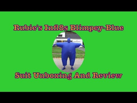 Rubie's Infl8s Blimpey-Blue Suit Unboxing And Review