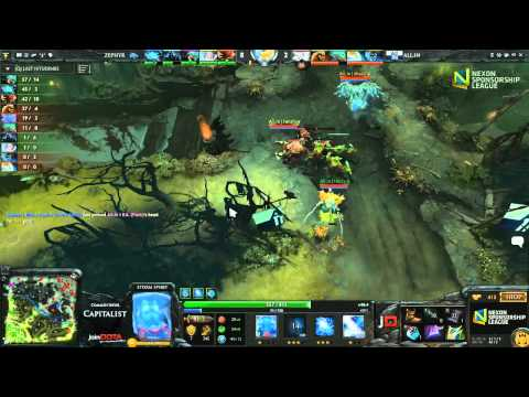Zephyr vs All.In Game 2 - Nexon Sponsorship League Season 3 DOTA 2 - Capitalist