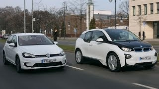 BMW i3 vs. VW E-Golf