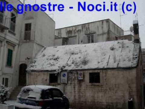18 febbraio 2009 – Neve nelle gnostre a Noci (Bari)