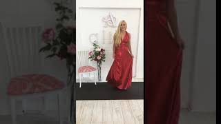 Goddess By Nature Red Wind Sequin Multiway Dress