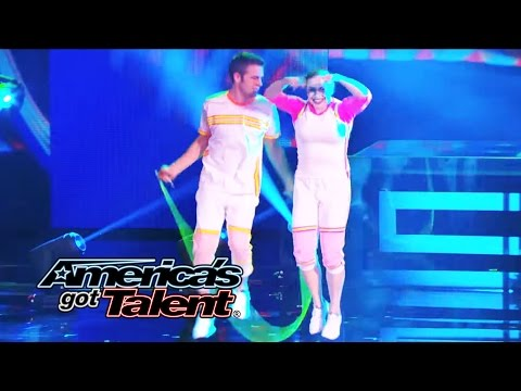 Flight Crew Jump Rope: Team Adds New Tricks to Their Show - America's Got Talent 2014 klip izle