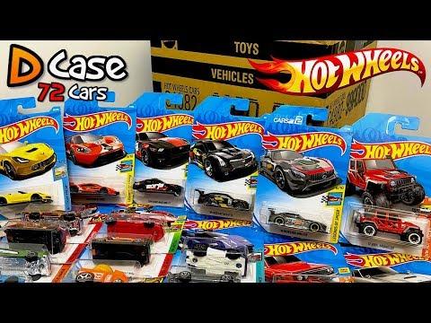 Unboxing Hot Wheels 2018 D Case 72 Car Assortment!