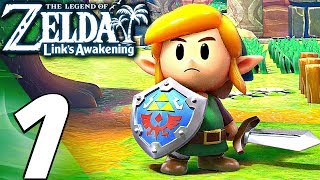 Legend of Zelda: Link's Awakening - Gameplay Walkthrough Part 1 - FULL GAME (REMAKE)