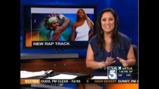 KTLA - Lynette Romero Co-Anchoring 1pm (May 11th 2012)