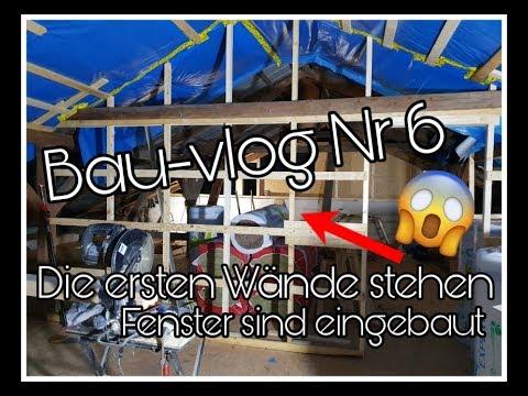 BAU-VLOG NR 6 | Die ersten Wände stehen | Fenster sind eingebaut || Schwanger mit 18