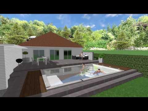 3D Animation Pool & Garten