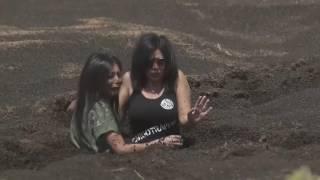 """شاهد.. رد فعل رانيا يوسف أمام سحلية """"رامز تحت الأرض"""""""
