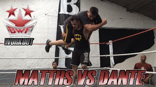 "BWF Workout - Matths vs ""O Aniquilador"" Dante (Training Highlights)"