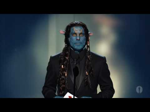 Ben Stiller presenting the Oscar for Best Makeup