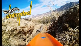 SPEEDING DOWN A STEEP MOUNTAIN | Hot Wheels Unlimited: Track Only Edition | Hot Wheels