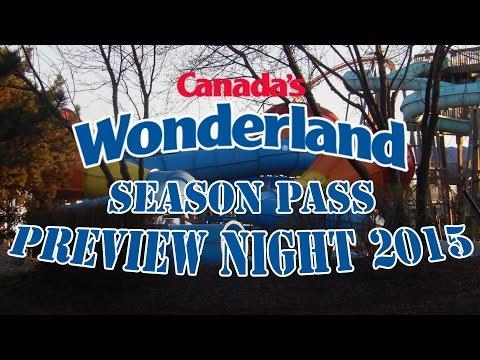 Canada's Wonderland Season Pass Preview Night 2015 w/Slingshot Footage