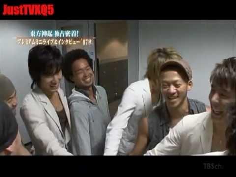 TVXQ  Mini Live 2007 - Back Stage & Interview Arabic sub (4) مترجم عر