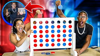 GIANT CONNECT 4 CARMEN vs COREY! (The loser gets punished)