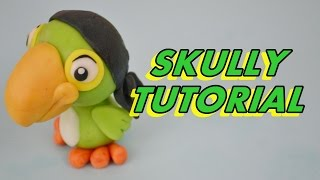 how to make parrot SKULLY jake and the never land pirates cake tutorial pasta di zucchero pappagallo