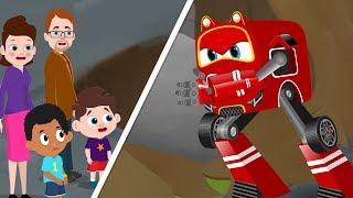 Red Supercar Baby Rikki vs Big Landslide | Kids Cartoon Songs & Rhymes
