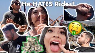 PAYING MY BABY DADDY TO GET ON RIDES!! He NEVER gets on rides!!