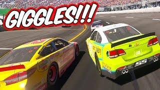 GIGGLES LOGANO VS. MICHEAL MRUCZ! // NASCAR Heat Evolution Career Mode Ep. 38
