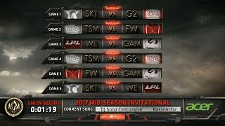 MSI 2017 Day 5 Highlights - SKT vs G2, TSM vs FW, WE vs GAM, TSM vs G2, FW vs GAM, SKT vs WE