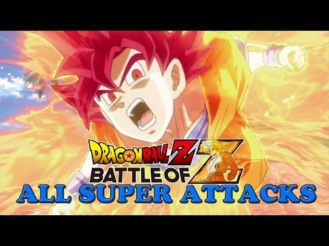 Dragon Ball Z Battle of Z All Specials (Super Attacks)