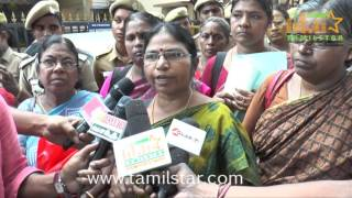 All India Democratic Women's Association Block Simbu's House In Protest