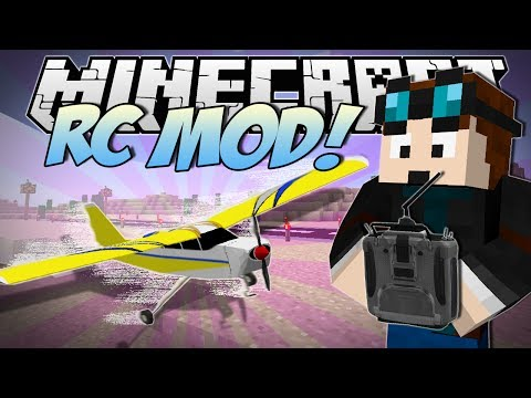 Minecraft   RC MOD! (Remote Controlled Stunt Planes!)   Mod Showcase