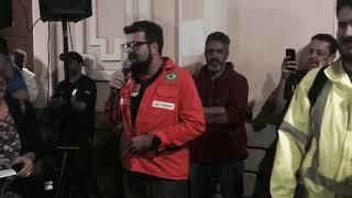 Coordenador do Sindipetro/MG na assembleia dos metroviários em BH