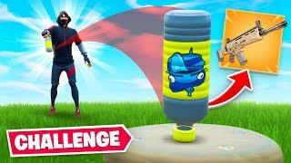 BOTTLE FLIP = LOOT Challenge In Fortnite!