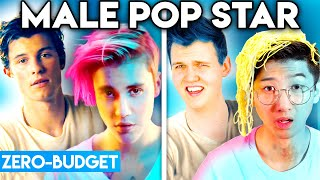 MALE POP STARS WITH ZERO BUDGET! (BEST OF SHAWN MENDES, JUSTIN BIEBER, & MORE BY LANKYBOX)