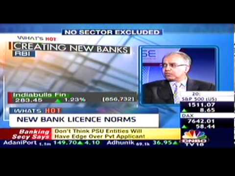 Mr.Godhwani,CMD,Religare shares his views over the New Banking License Guidelines released by RBI