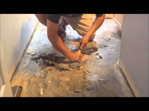 Removal of floor tiles on concrete