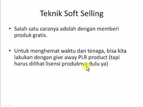 Teknik Soft Selling - Maulana Malik