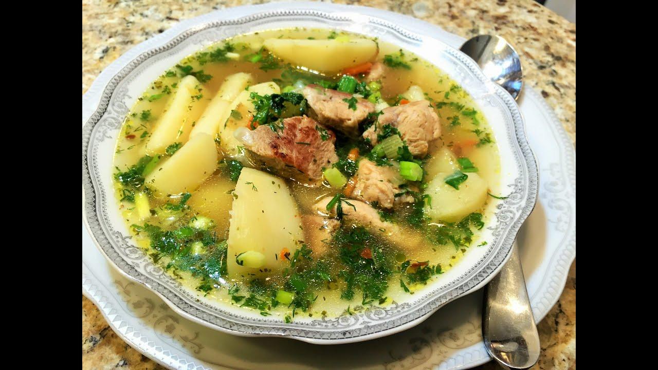 Суп с курицей и говядиной рецепт