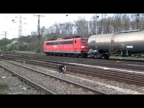 DB Class(BR)151 with Unit Cargo Train at Cologne Gremberg Germany 2-4-14.