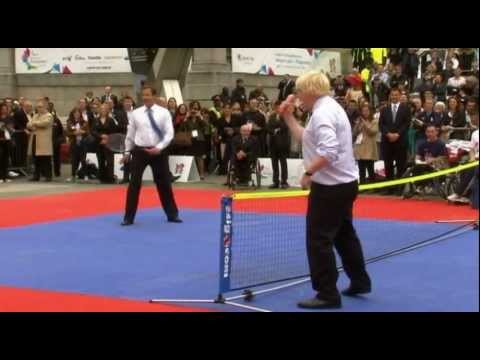 David Cameron vs Boris Johnson - Wheelchair tennis