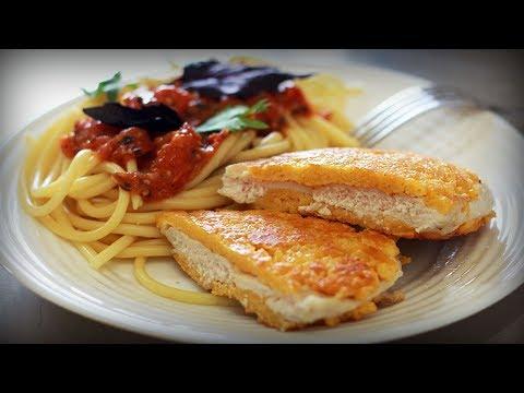 Спагетти с курицей миланезе. Рецепт Джейми Оливера