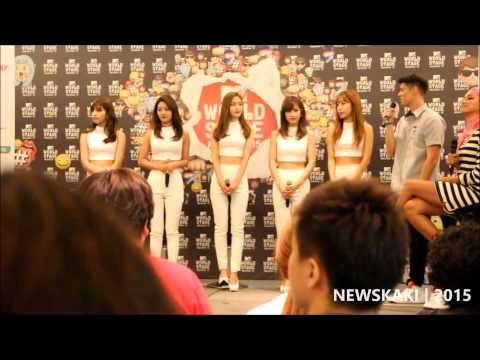 A-PINK greets the media - MTV World Stage Malaysia 2015 Press Conference