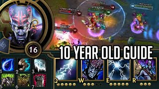 League of Legends but I follow a 10 year old Ryze guide