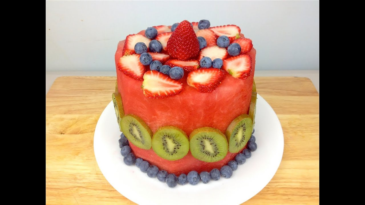 How To Make A Fruit Birthday Cake