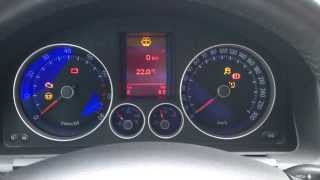 Golf 5 GTI Instrument cluster output test