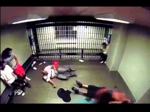 Big Bad Prison Bully Gets His Ass Kicked By Some Dude Trying To Sleep video