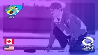 Canada v United States - Men's Round-robin - World Junior Curling Championships 2019