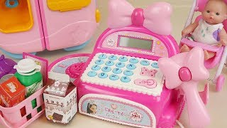 Mart register baby doll mart and food play