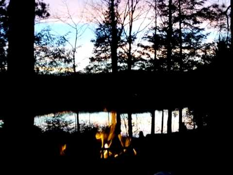 Campfire at Sunset