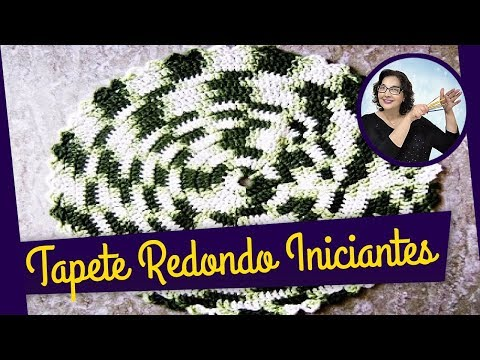 CROCH� TAPETE REDONDO BARROCO MULTICOLOR PARTE 1