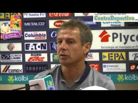 Press Conference by Jurgen Klinsmann after losing game to Costa Rica 3 1