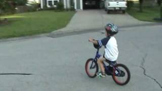Micah on 2 wheels!!!