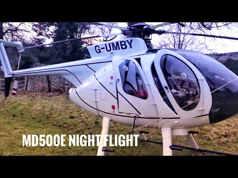 MD500E Night Flying-  Helicopter Preflight check